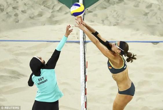 Egyptian-Female-Beach-volleyball-team-wear-Hijab